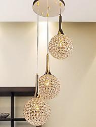 Modern Golden 3 Light Pendant (220V-240V)