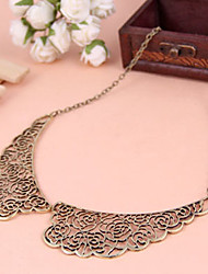 Palace carved hollow metallic sweater chain necklace fake collar collar(random color)