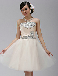 Mode Diamonade genou longueur demoiselle d'honneur / de robe de soirée de YI DIAN YUAN femmes (Champagne)