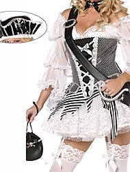 Pirate Black Spandex de las mujeres del traje de Halloween