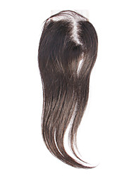 "12"" 100% Human Hair Black Silky Straight Hair Extension"