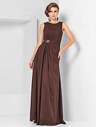 Formal Evening / Military Ball Dress - Chocolate Plus Sizes / Petite Sheath/Column Jewel Floor-length Chiffon