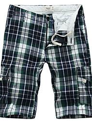 LESMART- Men's Olive 2013 New Nidek Chenk Multi-Pocket Beach Shorts