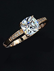 Unique 18K Gold Plated High Quality Alloy And Crystal Ring