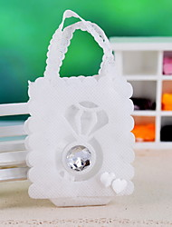 Flower Shaped Favors Bags With Rhinestone - Set Of 12