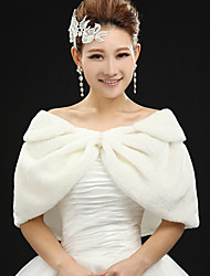 Excellent Half Sleeve Faux Fur Wedding/Party/Casual Shawls