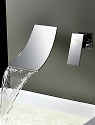 Sprinkle® by Lightinthebox - Waterfall Widespread Contemporary Bathroom Sink Faucet (Chrome Finish)