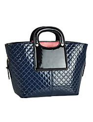 DIMO Women's Fashion Embossing Leather Tote(Dark Blue)