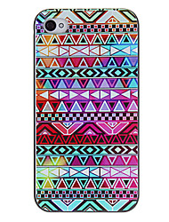 Colorful Geometric Figures Pattern Protective Hard Case for iPhone 4/4S