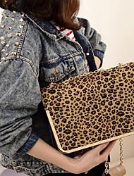 Мода Leopard сеть через плечо сумка