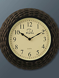"14.5 ""h moderne horloge murale de style cannage"