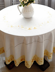 As per picture Cotton Blend Round Table Cloths