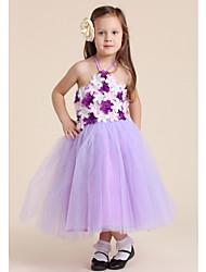 Halter Dress Flowers Girl