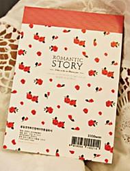 Rosa história romântica Blocos