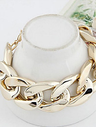 Metal Exaggerated Thick Chain Concise Bracelet