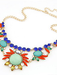 Aleación de lujo con el collar del Rhinestone mujeres (más colores)