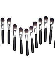 12PCS Manche Noir Noir & Gray brosse Big Pinceau Poudre