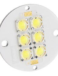 6W 200LM 6500K Placa fría LED blanco (11-12V)