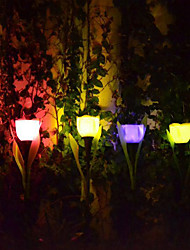 Tulip Design Solar LED Garden/Lawn Landscape Lights (4pcs)