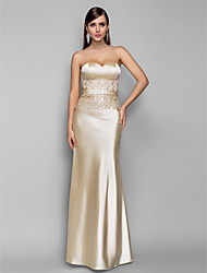 TS Couture® Formal Evening / Military Ball Dress - Open Back Plus Size / Petite Trumpet / Mermaid Sweetheart Floor-length Stretch Satin with Lace