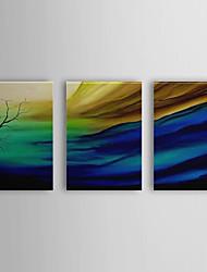 peints à la main peinture à l'huile paysage vent avec cadre étiré set de 3 1310-la1242