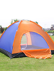 Camping Outdoor 200 * 200 * 135cm 4-Person Tent duplo (cor aleatória)