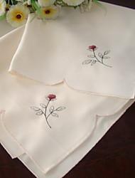polyester broderie serviettes - ensemble de 6