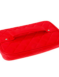 Red Lattic Cosmetic Bag
