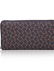 OIMEI Men's Coffee Pvc Leather High Quality Brief Type Wallet (L18.5cm*W2cm*H9.5cm)