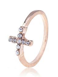 Fashion Alloy Gold mit Strass Ring überzogen
