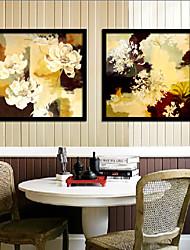 diferentes pétalos de flores enmarcado lona de la impresión de conjunto de 2