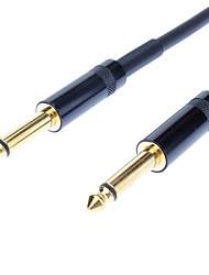 jsj® 3m 9.84ft 6.35mm enkele track man op man-kabel - zwart