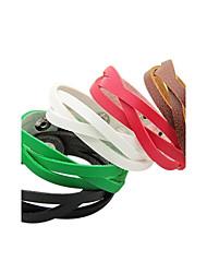BaoGuang®Punk Style Weave Leather Bracelet(Assorted Color)