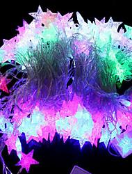 20-LED 4М Водонепроницаемый ЕС Plug Открытый Новогодние украшения праздника Sea Star Форма RGB света шнура СИД (220)