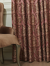 (Two Panels) Michelle Luxury® Golden Luxurious Damask Energy Saving Curtain