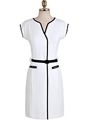 MFL Slim Sleeveless Dress(Free Belt)