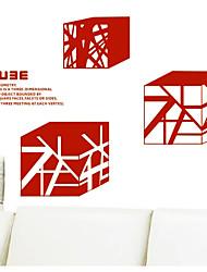 Cube Fantaisie Stickers muraux