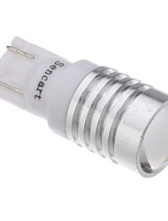 2Pcs T10 1.5W 1-LED 70-90LM 6000-6500K Cool White Light LED Bulb with Optical Glass Convex Lens (12V)