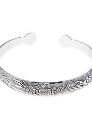 Fashion Alloy Flowers Pattern Bracelet Cuff