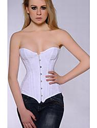 strapless algodão lace-up casamento clássico espartilho nupcial / shapewear sexy lingerie shaper