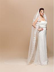 Elégant 2 Chapelle Voiles de mariage de calque avec fini / dentelle Applique bord