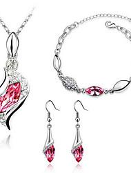 Elegantes pendientes del collar de la pulsera de Sammy Mujeres Set 40 5 Cm
