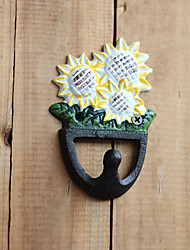 Antique Finish Cute Sunshine Flower Garden Hook