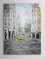 Hand Painted Oil Painting Landscape Europe Street with Stretched Frame 1310-LS1056