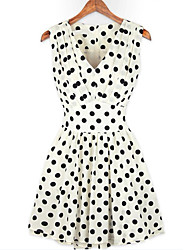 MFL Polka Dot Sleeveless Dress