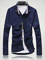 Men's Dress Shirts , Cotton Casual/Work PPZ