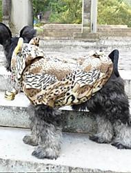 Perros Abrigos Marrón Invierno Animal Leopardo