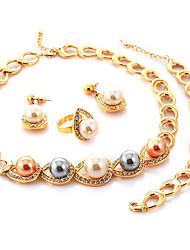 U7® women's High Quality 18K Gold Plated Austrian SWA Rhinestone Costume Jewelry Set