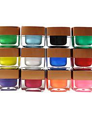 12PCS 12-color UV Color Gel Top Coat Pure Color(8ML,Random Color)