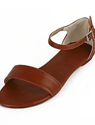 plana calcanhar conforto sandálias femininas (mais cores)
